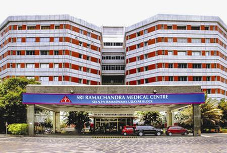 Find Chest X-Ray prices at Sri Ramachandra Medical Center in India